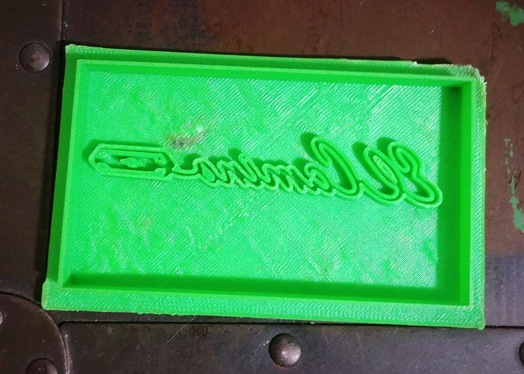 3D Printed Cookie Cutter Inspired by El Camino Script Emblem