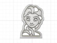 Load image into Gallery viewer, 3D Printed Cookie Cutter Inspired by Elsa