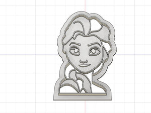 3D Printed Cookie Cutter Inspired by Elsa