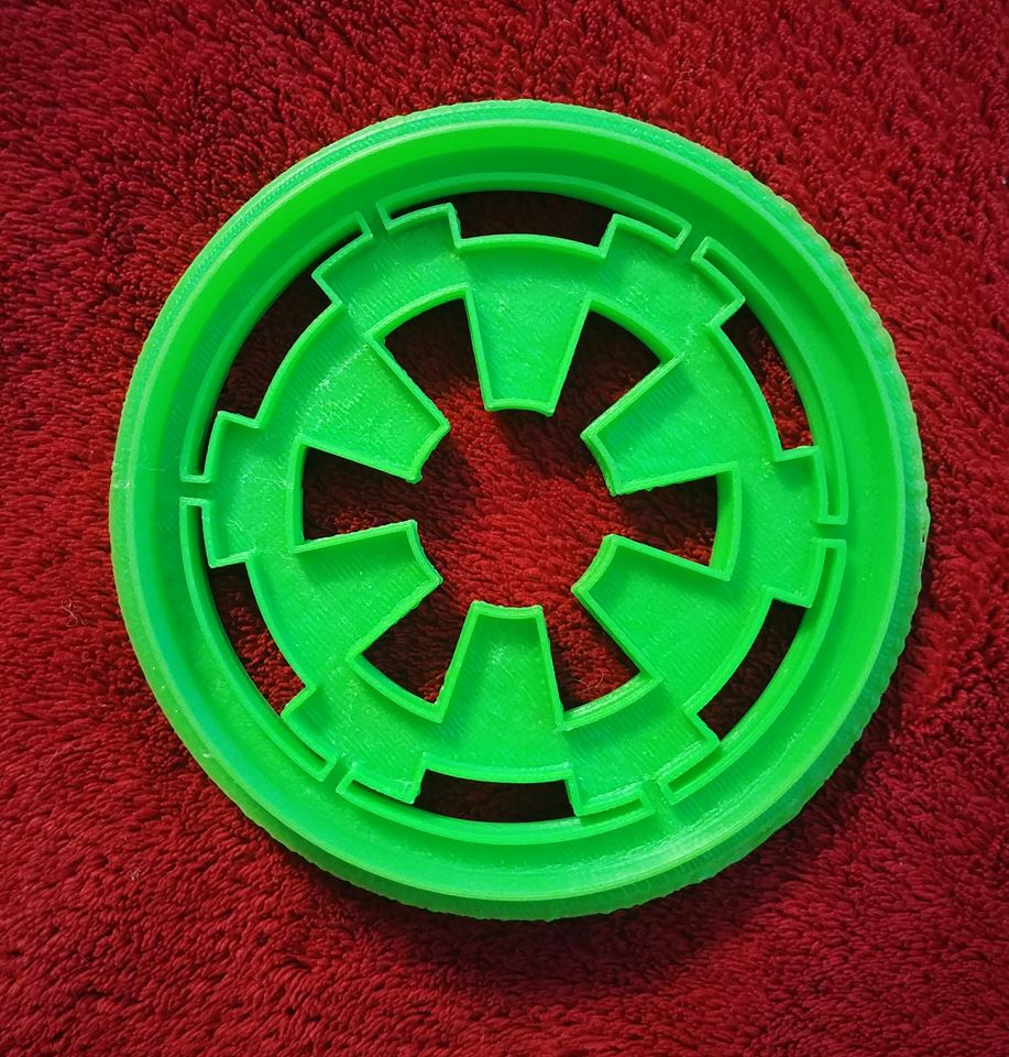 3D Printed Cookie Cutter Inspired by Star Wars Empire Symbol