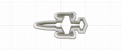 3D Printed Cookie Cutter Inspired by USAF F-104 Starfighter with Wing Tanks