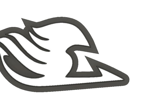 3D Model to Print Your Own Sitting Anime Fairy Tail Guild Logo Outline Cookie Cutter DIGITAL FILE ONLY