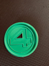 Load image into Gallery viewer, 3D Printed Cookie Cutter Inspired by the Fantastic Four Logo