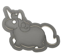 3D Printed Fat Unicorn Cookie Cutter
