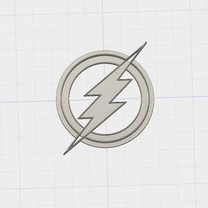3D Model to Print Your Own Sitting DC Comics Flash Logo  Cookie Cutter DIGITAL FILE ONLY