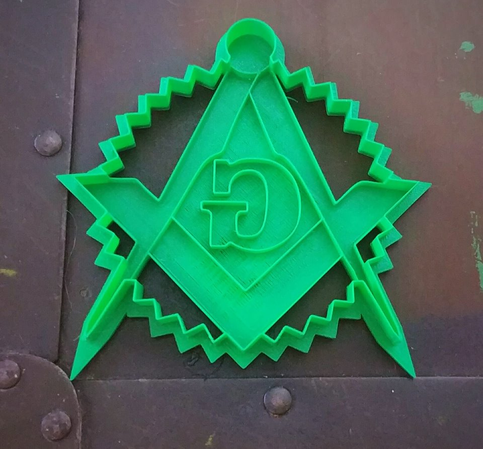 3D Printed Cookie Cutter Inspired by Free Mason Symbol