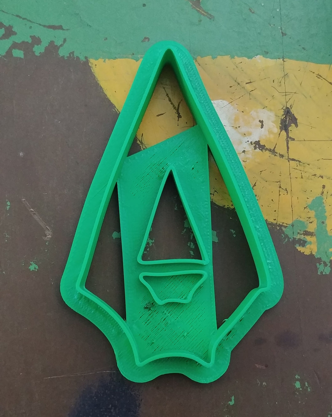 3D Printed Cookie Cutter Inspired by DC Comics Green Arrow Logo