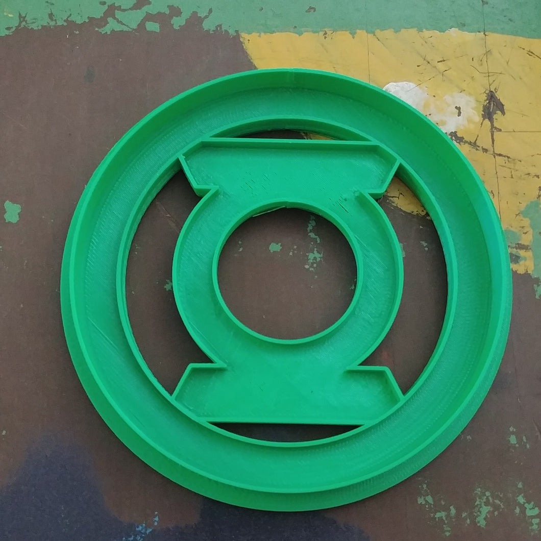 3D Printed Cookie Cutter Inspired by DC Comics Green Lantern Logo