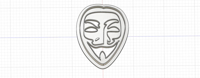 3D Printed Cookie Cutter Inspired by Guy Fawkes Mask