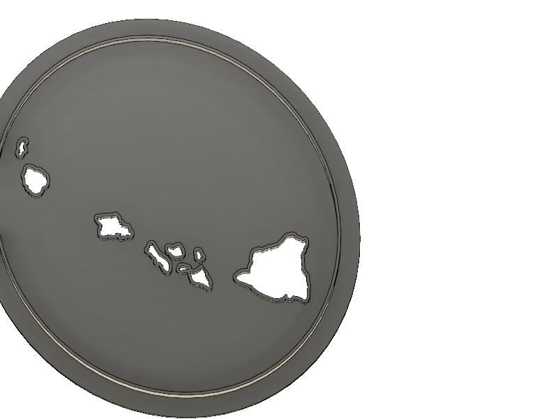 3D Printed Cookie Cutter Inspired by Hawaiian Islands