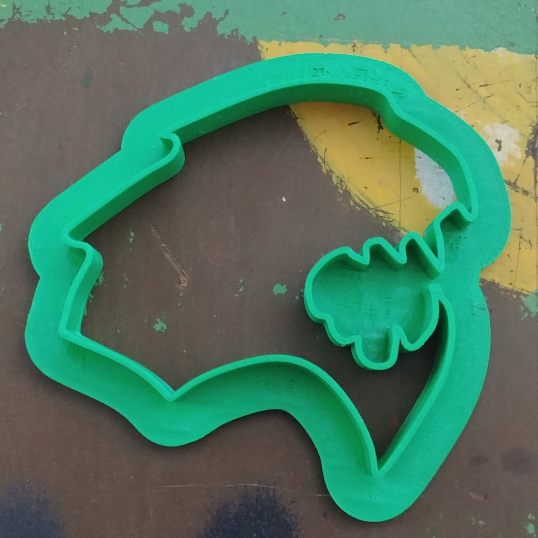 3D Printed Cookie Cutter Inspired by the Mopar Hellcat Emblem