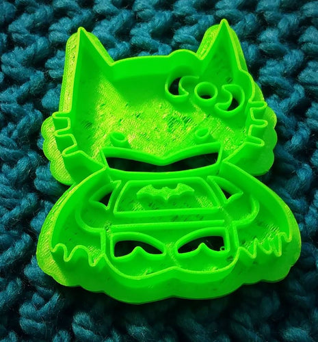 3D Printed Cookie Cutter Inspired by Hello Kitty Batman