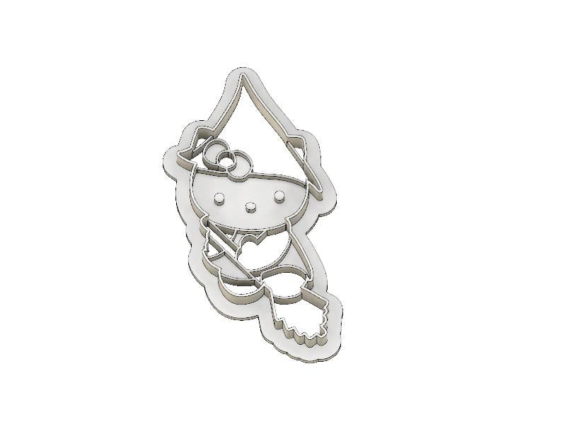 3D Printed Cookie Cutter Inspired by Hello Kitty Witch