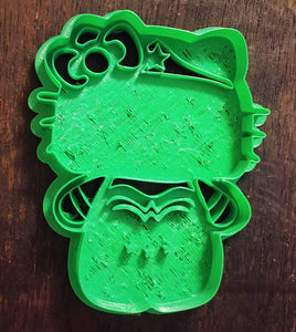 3D Printed Cookie Cutter Inspired by Kawaii Hello Kitty Wonder Woman