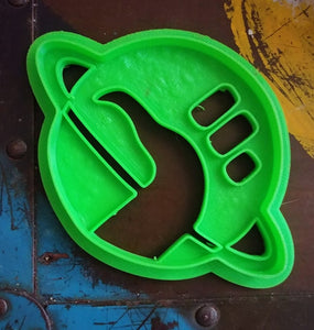 3D Printed Cookie Cutter Inspired by Hitchhiker's Guide to the Galaxy Logo