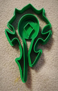3D Printed Cookie Cutter Inspired by World of Warcraft Horde Crest