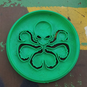 3D Printed Cookie Cutter Inspired by Marvel's Hydra Logo