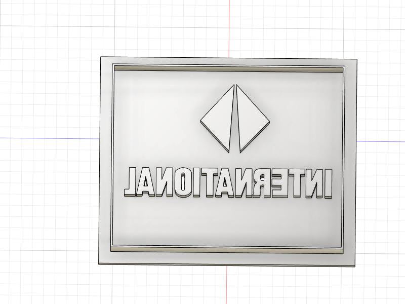 3D Printed Cookie Cutter Inspired by International Square Logo