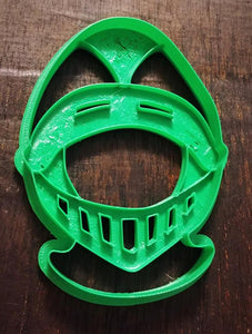 3D Printed Cookie Cutter Ispired by Knights Helmet