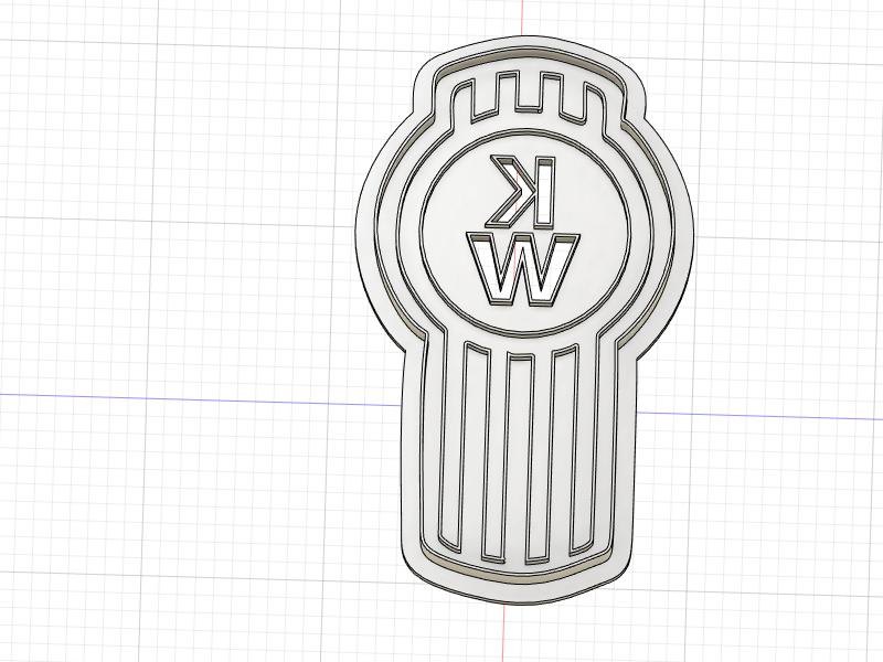 3D Printed Cookie Cutter Inspired by Kenworth KW Logo