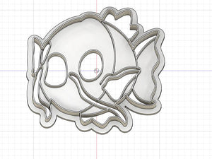 3D Printed  Cookie Cutter Inspired by Magikarp