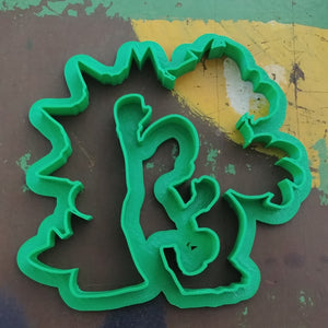 3D Printed Cookie Cutter Inspired by Super Mario Mario in Bowser