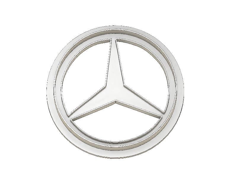 3D Printed Cookie Cutter Inspired by the Mercedes Emblem