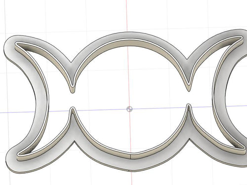 3D Printed Triple Goddess Symbol Cookie Cutter