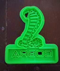3D Printed Cookie Cutter Inspired by Mustang Cobra Emblem