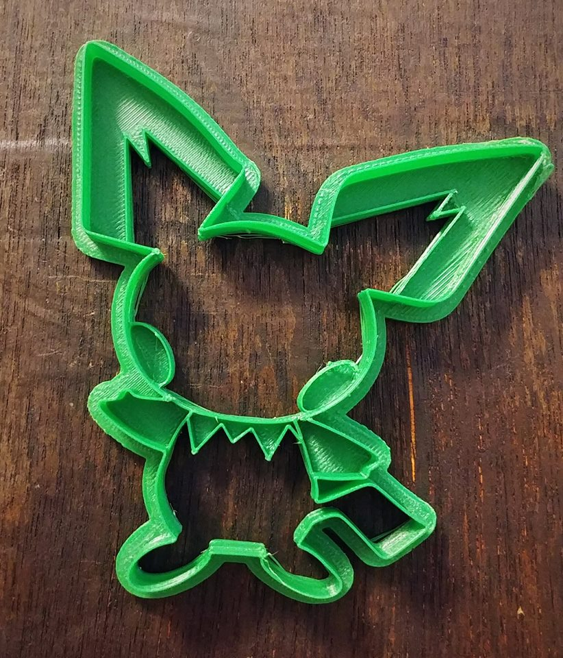 3D Printed Cookie Cutter Inspired by Pokemon Pichu