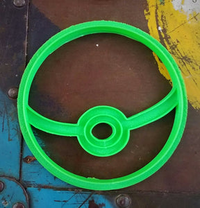 3D Printed Cookie Cutter Inspired by Pokemon Pokeball