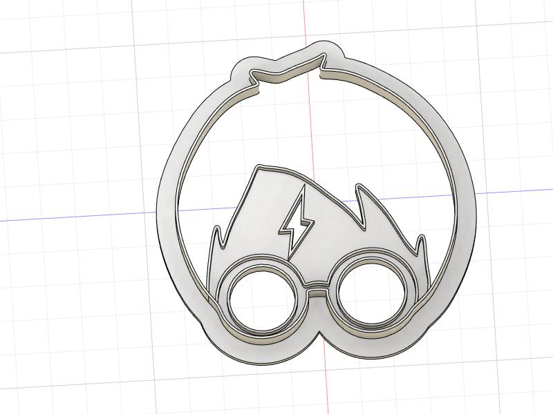 3D Printed Cookie Cutter Inspired by Harry Potter Head with Glasses