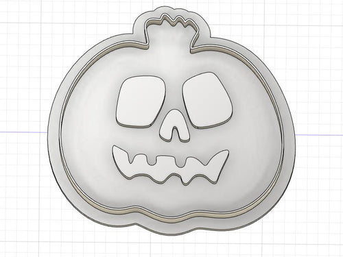 3D Printed Cute Jack O Lantern Cookie Cutter