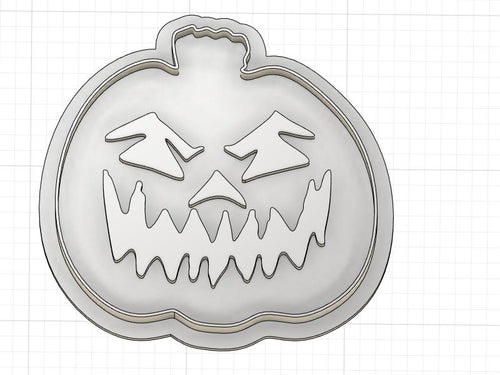 3D Printed Scary Jack O Lantern Cookie Cutter