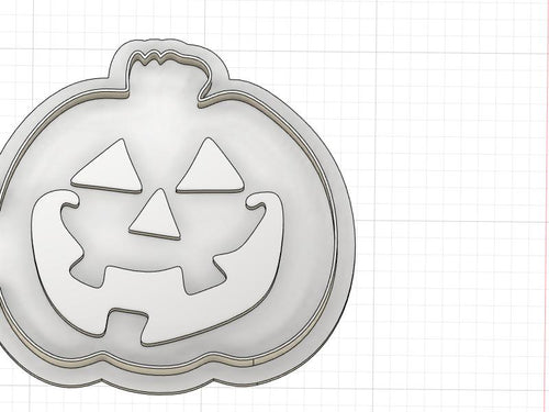3D Printed Smiling Jack O Lantern Cookie Cutter