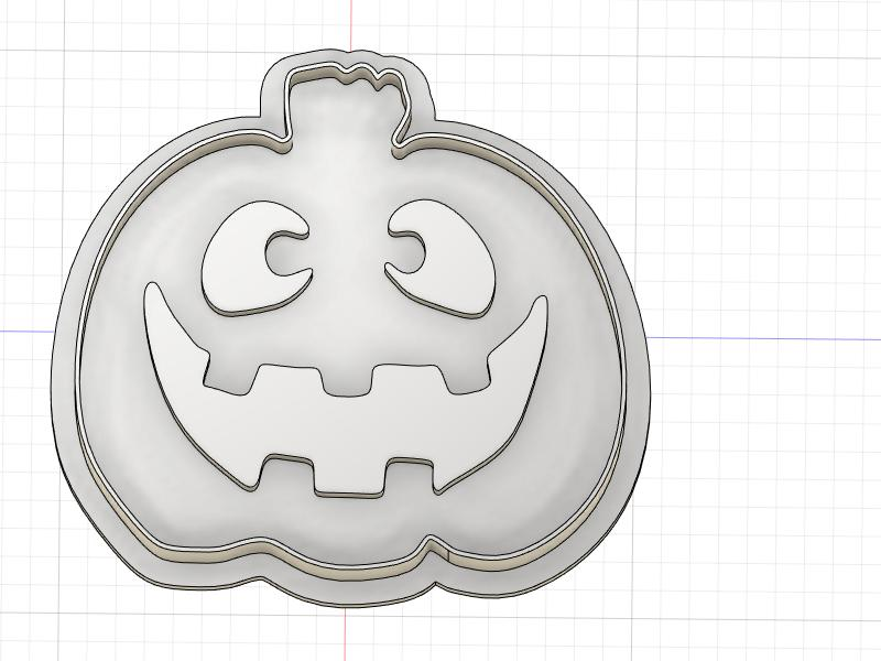 3D Printed Silly Jack O Lantern Cookie Cutter