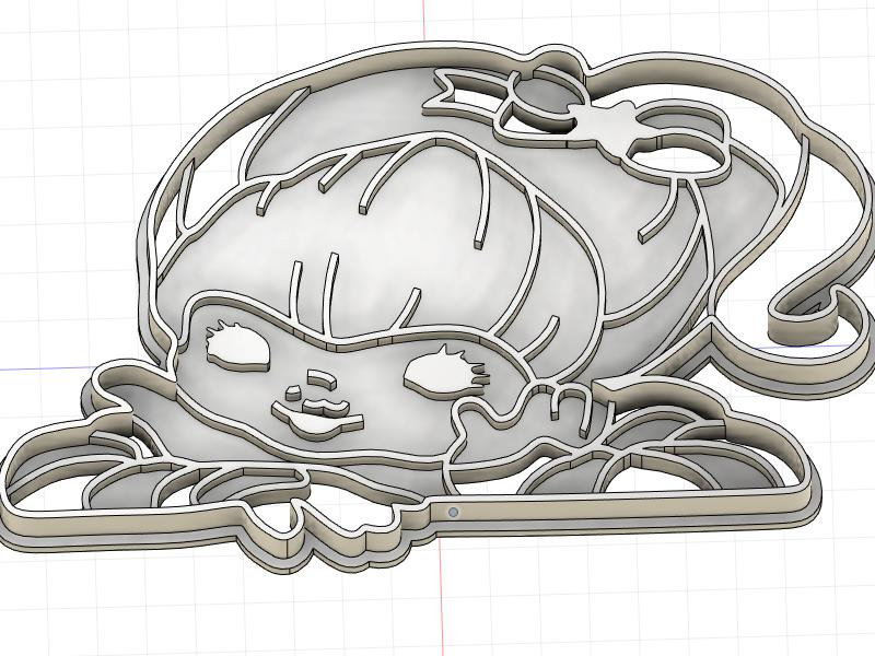 3D Printed Cookie Cutter Inspired by Rainbow Brite