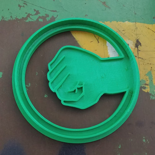 3D Printed Cookie Cutter Inspired by Big Bang Theory Rock Paper Sissors Lizard Spock Game Rock SIgn