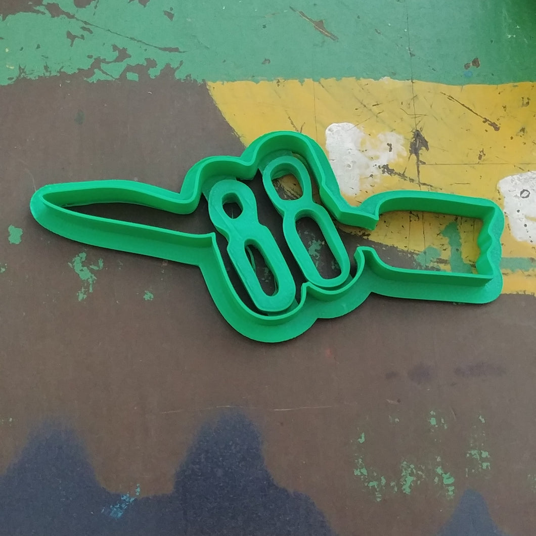 3D Printed Cookie Cutter Inspired by Oldsmobile Rocket 88 Emblem