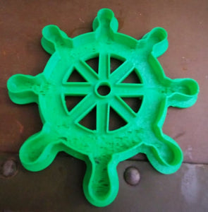 3D Printed Cookie Cutter Inspired by Ships Wheel