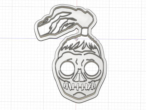 3D Printed Shrunken Head Cookie Cutter