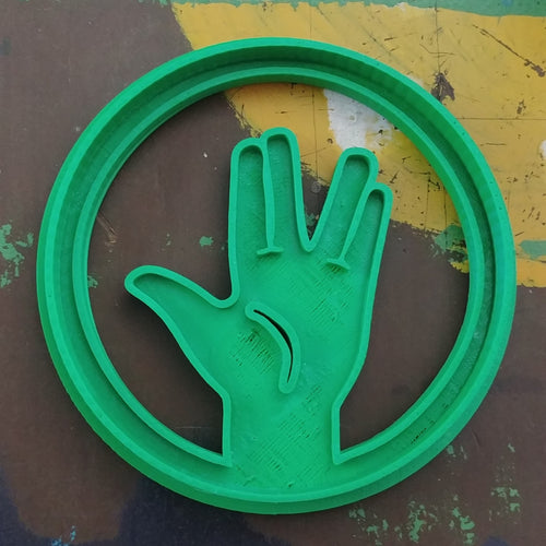 3D Printed Cookie Cutter Inspired by Big Bang Theory RPSLS Spock Sign
