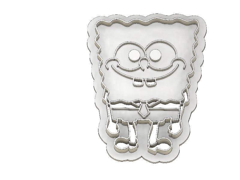3D Printed Cookie Cutter Inspired by Sponge Bob Square Pants