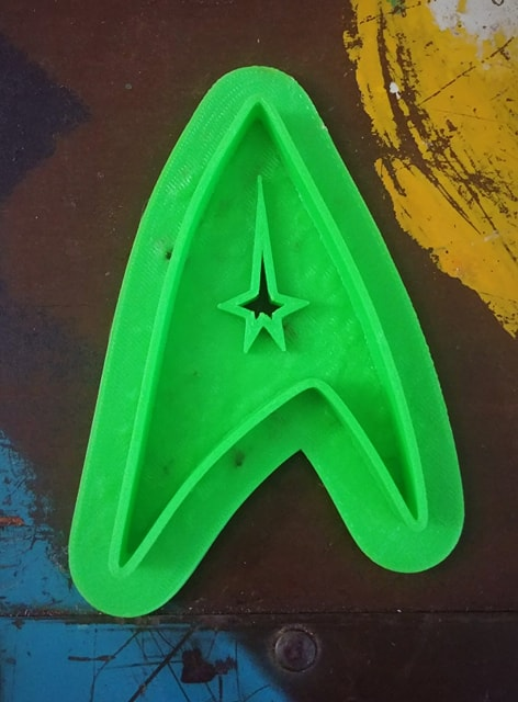 3D Printed Cookie Cutter Inspired by Star Trek Insignia