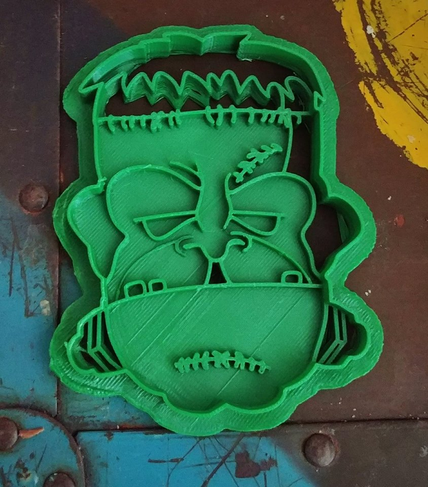 3D Printed Cookie Cutter Inspired by Frankenstein Monster