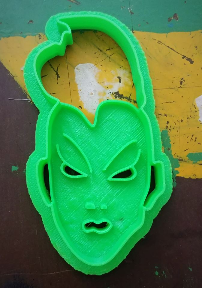 3D Printed Cookie Cutter Inspired by X-Men Storm Head