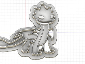 Printed Cookie Cutter Inspired by Dragons Rescue Riders Summer