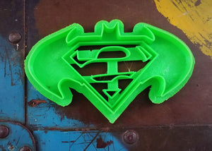 3D Printed Cookie Cutter Inspired by Batman/Superman Logo