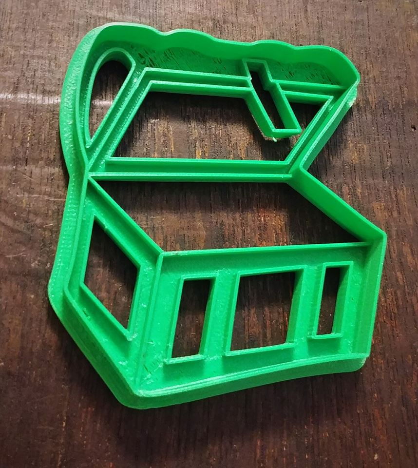 3D Printed Cookie Cutter Treasure Chest