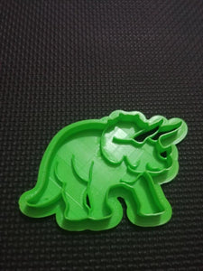 3D Printed Triceratops Dinosaur Cookie Cutter